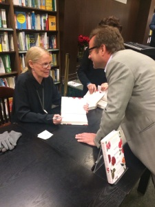 Christine signing books in Barnes & Nobel, NYC