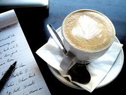 writing with coffee